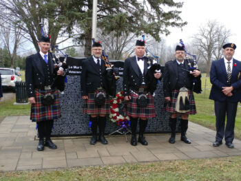 November 11th Ceremony at Rideau Gardens
